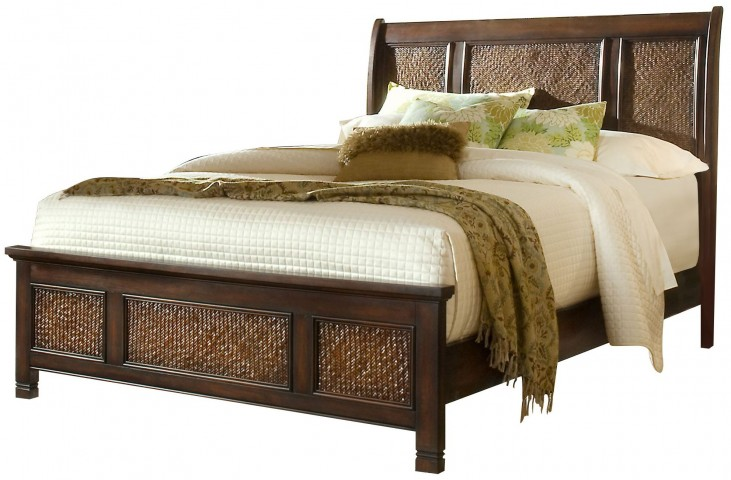 Kingston Isle Havana Brown Queen Sleigh Bed