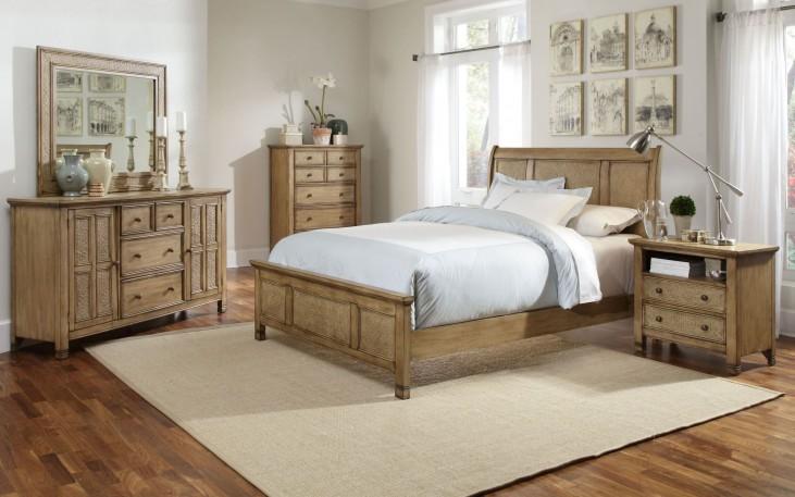 Kingston Isle Sand Sleigh Bedroom Set