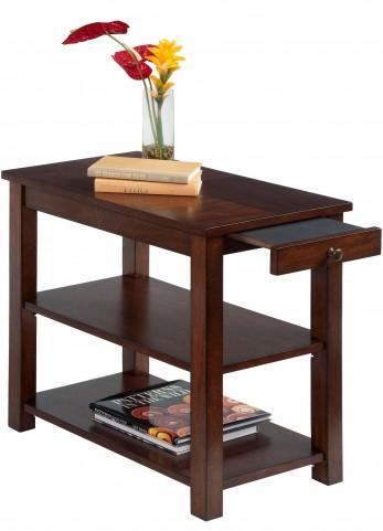 Chairsides Birch Veneer Drawer Chairside Table