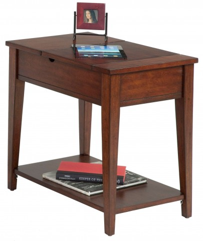 Chairsides Birch Veneer Hidden Storage Chairside Table