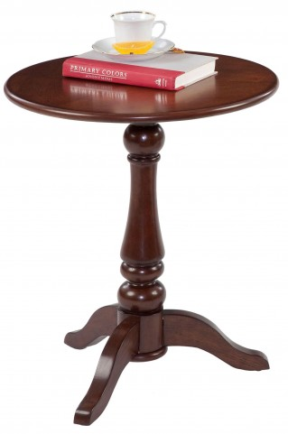 Chairsides Birch Veneer Round Chairside Table