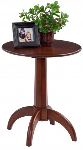 Chairsides Birch Veneer Chairside Table