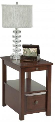 "Chairsides Birch Veneer 24"" Shelf Chairside Table"