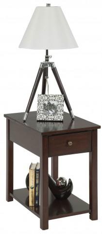 "Chairsides Birch Veneer 24"" Rectangular Chairside Table"