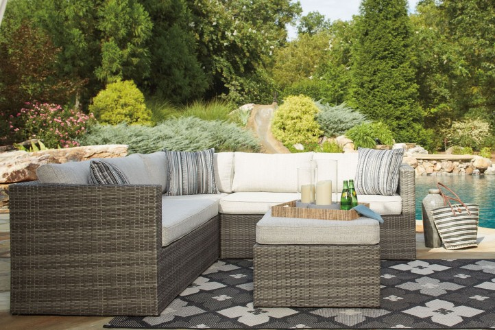 Peckham Park Beige and Brown Outdoor Sectional
