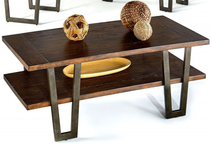 Sedona Wire Light Elm Rectangular Cocktail Table