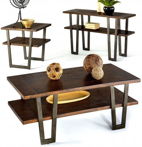 Sedona Wire Light Elm Occasional Table Set