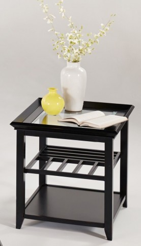 Sandpiper Black Chairside Table