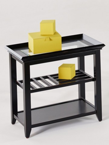Sandpiper Black Rectangular End Table