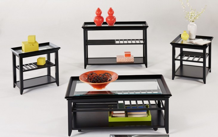 Sandpiper Black Occasional Table Set