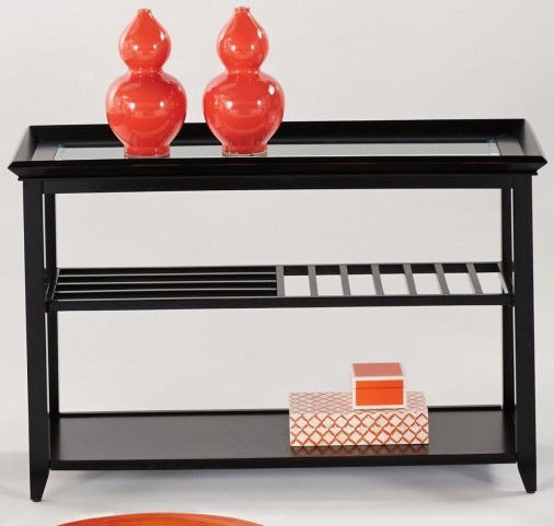Sandpiper Black Sofa/Console Table