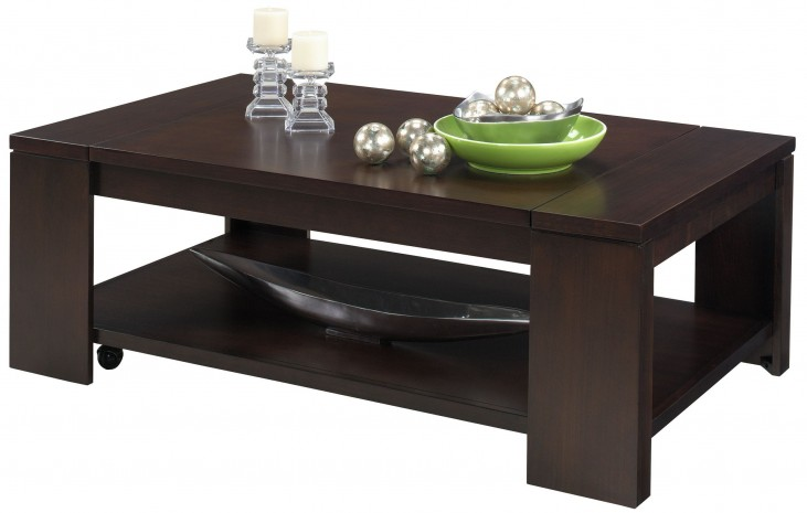 Waverly Vintage Walnut Rectangular Cocktail Table