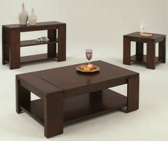 Waverly Vintage Walnut Occasional Table Set