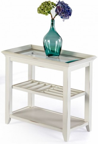 Sandpiper II White Chairside Table
