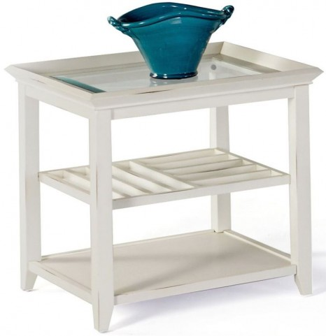 Sandpiper II White Rectangular End Table