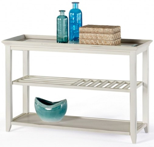 Sandpiper II White Sofa/Console Table
