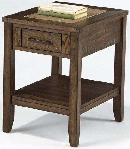 Forest Brook Ash & Ceramic Tile Chairside Table
