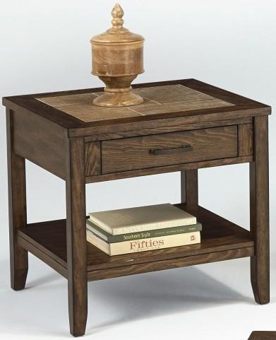 Forest Brook Ash & Ceramic Tile Rectangular End Table