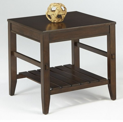 Jupiter Key Dark Cherry Rectangular End Table
