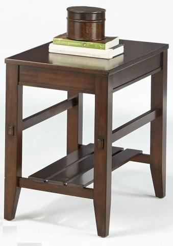 Jupiter Key Dark Cherry Chairside Table