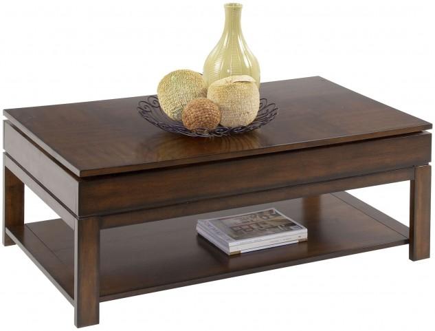 Miramar Cherry Veneer Sliding-Top Cocktail Table