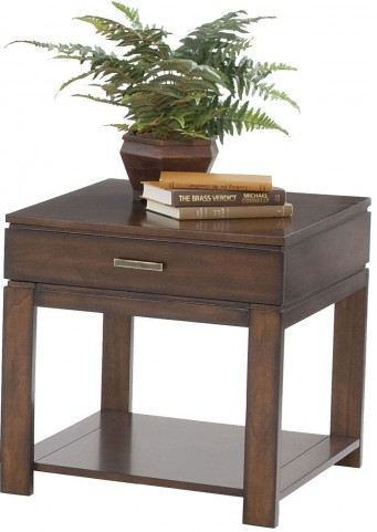 Miramar Cherry Veneer Drawer End Table