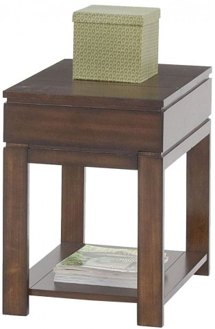 Miramar Cherry Veneer Storage Chairside Table