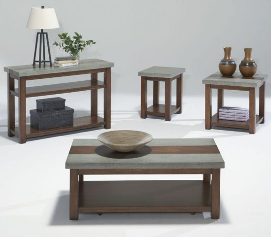 Cascade Nutmeg Birch Occasional Table Set
