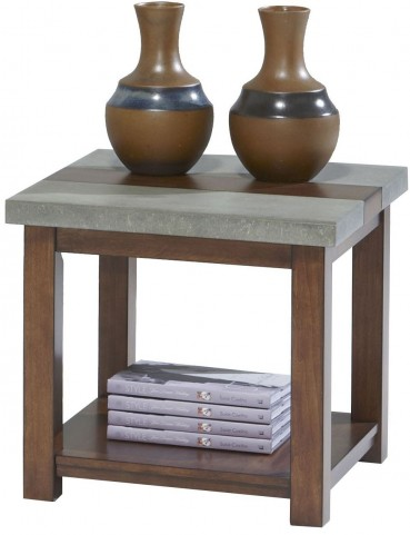 Cascade Nutmeg Birch Square Lamp Table
