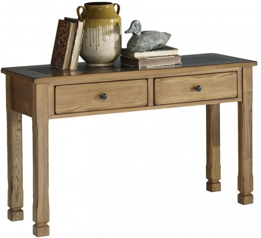 Rustic Ridge Elm Sofa/Console Table