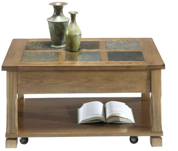 Rustic Ridge Elm Lift-Top Cocktail Table