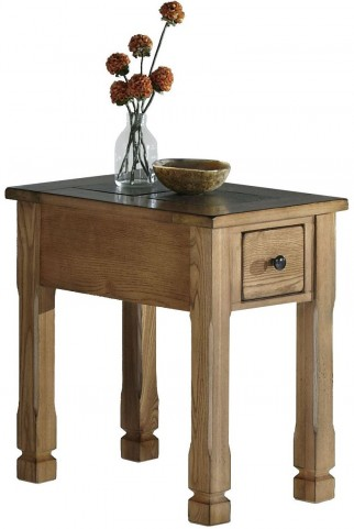 Rustic Ridge Elm Chairside Table
