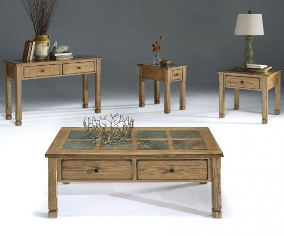 Rustic Ridge Elm Occasional Table Set
