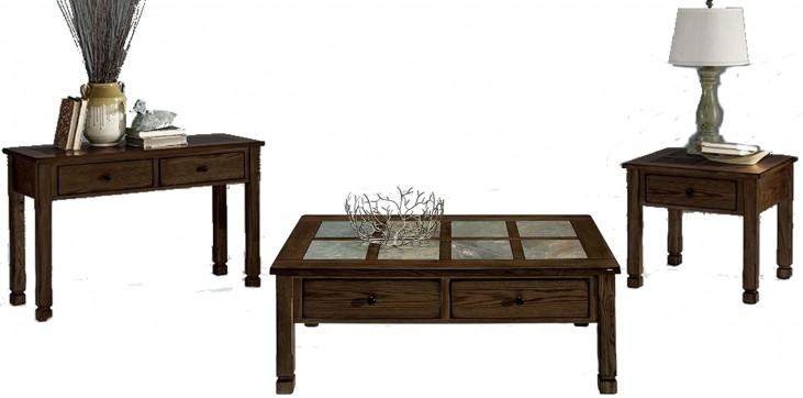 Rustic Ridge ll Dark Birch Occasional Table Set