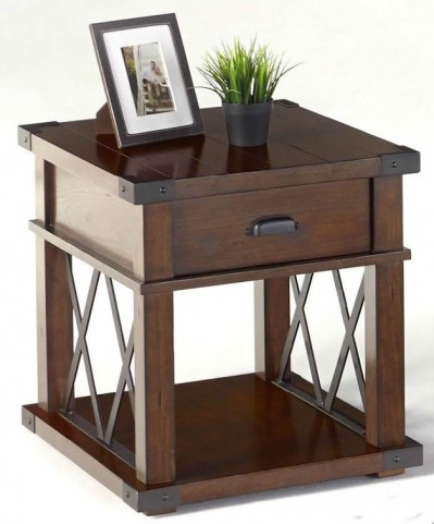 Landmark Vintage Ash Rectangular End Table