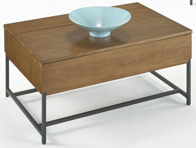 Viero Place Light Qui Veneer Lift-Top Cocktail Table