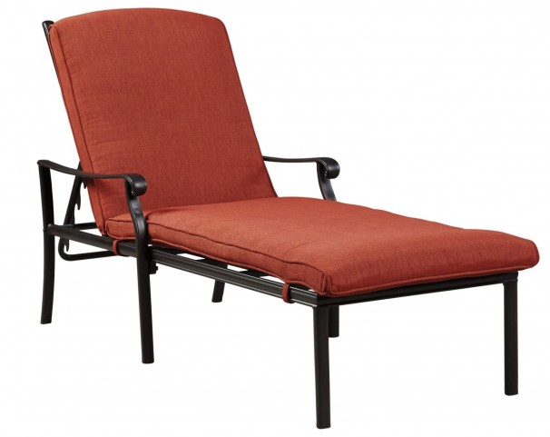 tanglevale burnt orange chaise lounge p557 815 ashley