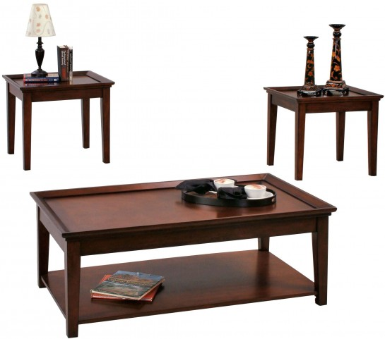 Encore Tobacco 3 Piece Occasional Table Set