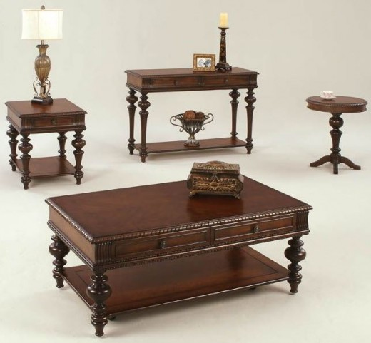Mountain Manor Heritage Cherry Occasional Table Set