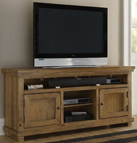 "Willow Distressed Pine 64"" Console"