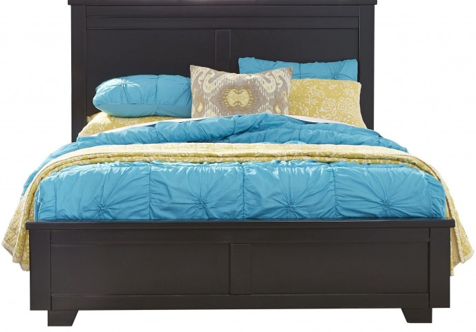 Diego Black Queen Panel Bed
