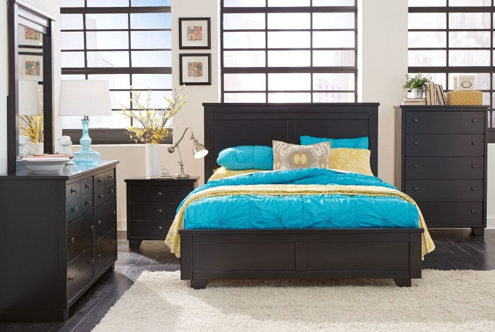 Diego Black Panel Bedroom Set