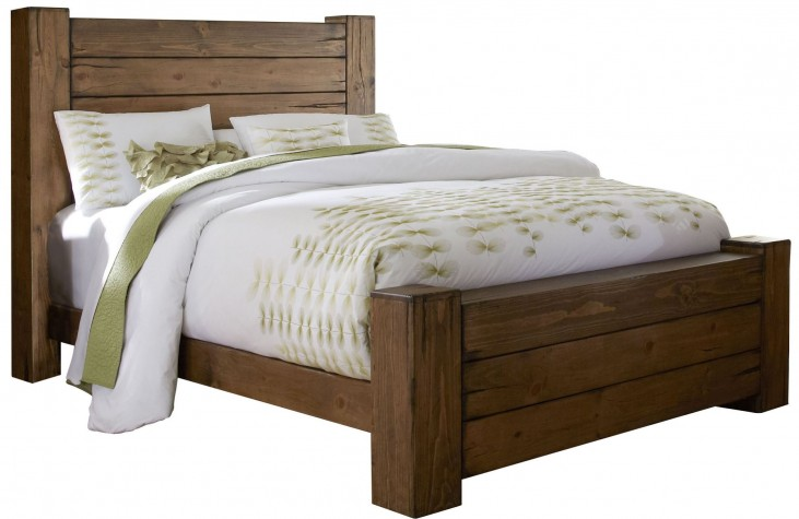 Maverick Driftwood King Panel Bed