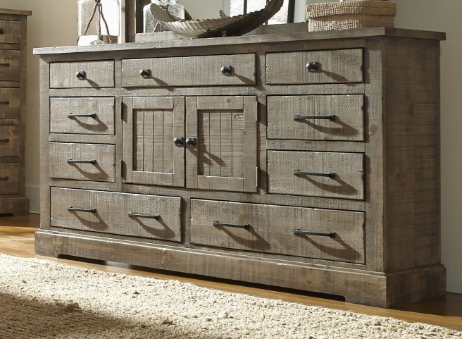 Meadow Weathered Gray Door Dresser