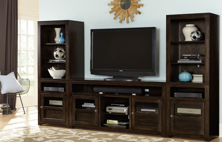 "Triumph Brown Entertainment Wall with 64"" Console"