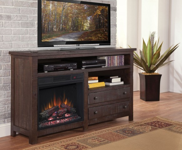 "Tahoe Rustic Mesquite Pine 60"" Console/Fireplace"