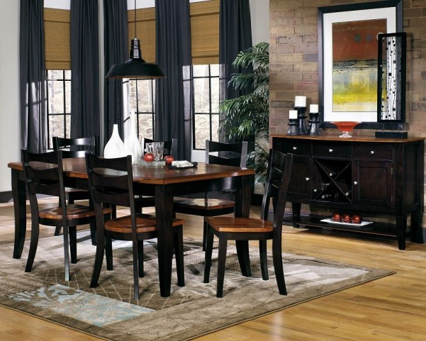 Jake Black and Dining Room Set