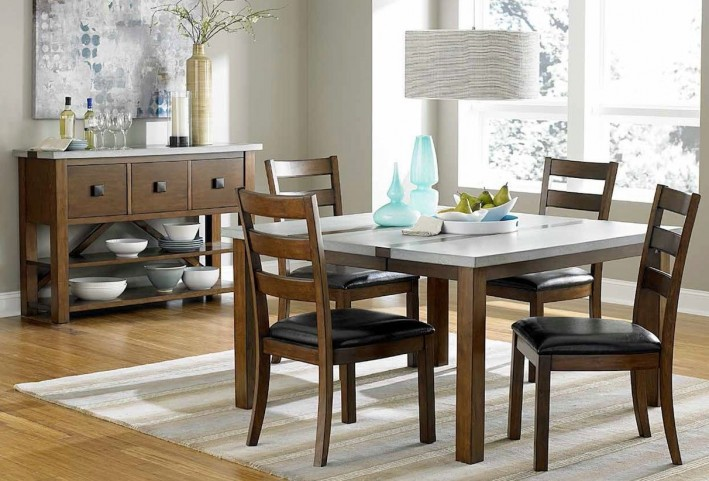 Cascade Nutmeg and Cement Dining Room Set