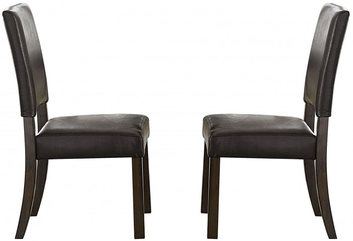 Cascade Nutmeg and Cement Upholstered Dining Chair Set of 2