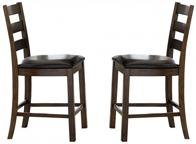 Cascade Nutmeg and Cement Wood Counter Chair Set of 2